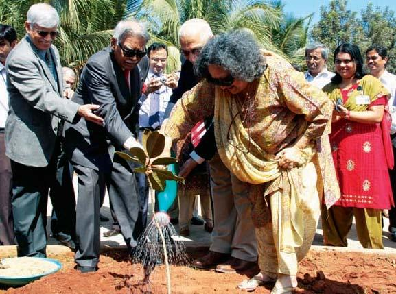 24, 2012. Mrs and Mr Pathak also took a tour of the institute and planted a tree.