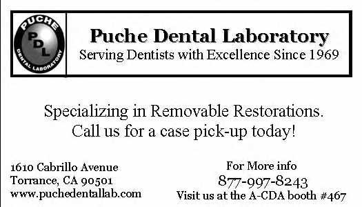 Call us for a case pick-up today! 1610 Cabrillo Avenue Torrance, CA 90501 www.puchedentallab.