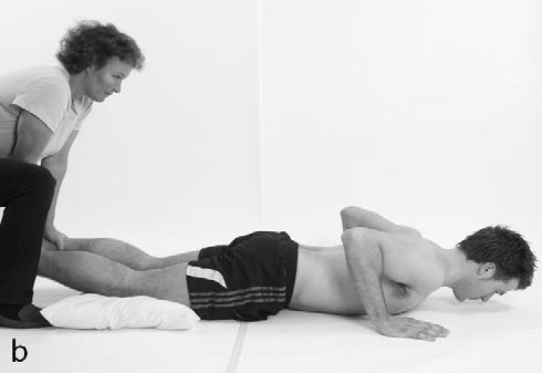 begins the exercise by slowly lowering their torso towards the ground, using their hamstring muscles to control the descent.