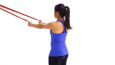 Rotate your forearm across your body so your fist is facing the opposite direction, then return to the start and repeat.
