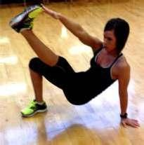 Lift legs as high as possible in a pike manner, keeping them straight the entire time. 4.