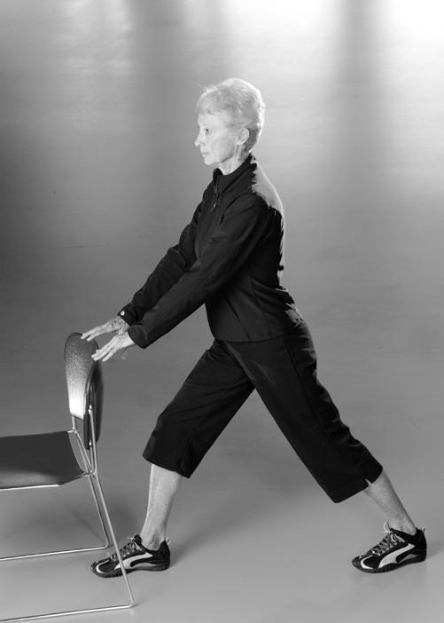 Walking/Running Stretch Routine Calf Stretch Stand with one leg forward and one leg back.
