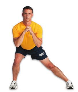 Keep mild tension on band at all times Reverse Lunge, Elbow to Instep - In Place 5 Drop