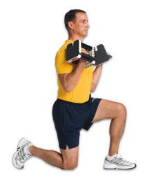 bench behind you Drop hips towards deck by bending your front knee without letting your