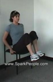 Keeping the knees bent and legs together, lift your knees up towards your chest and slowly lower