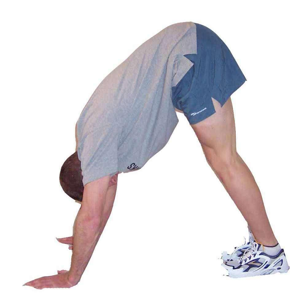 Move back foot backward to increase stretch Hold for 20-40 seconds. Repeat 1-3 times.