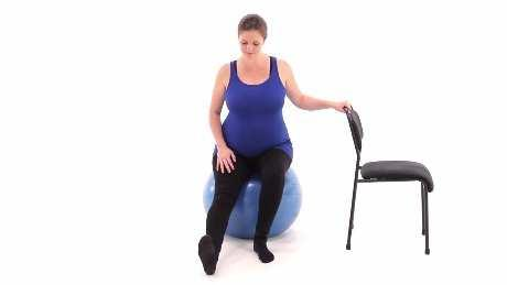 Single Leg Quarter Squat with Swiss Ball at Wall Begin standing with a swiss ball between your back and a wall.