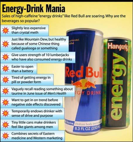 Energy Drinks Risks of Energy Drinks Increased heart rate Increased blood pressure Anxiety