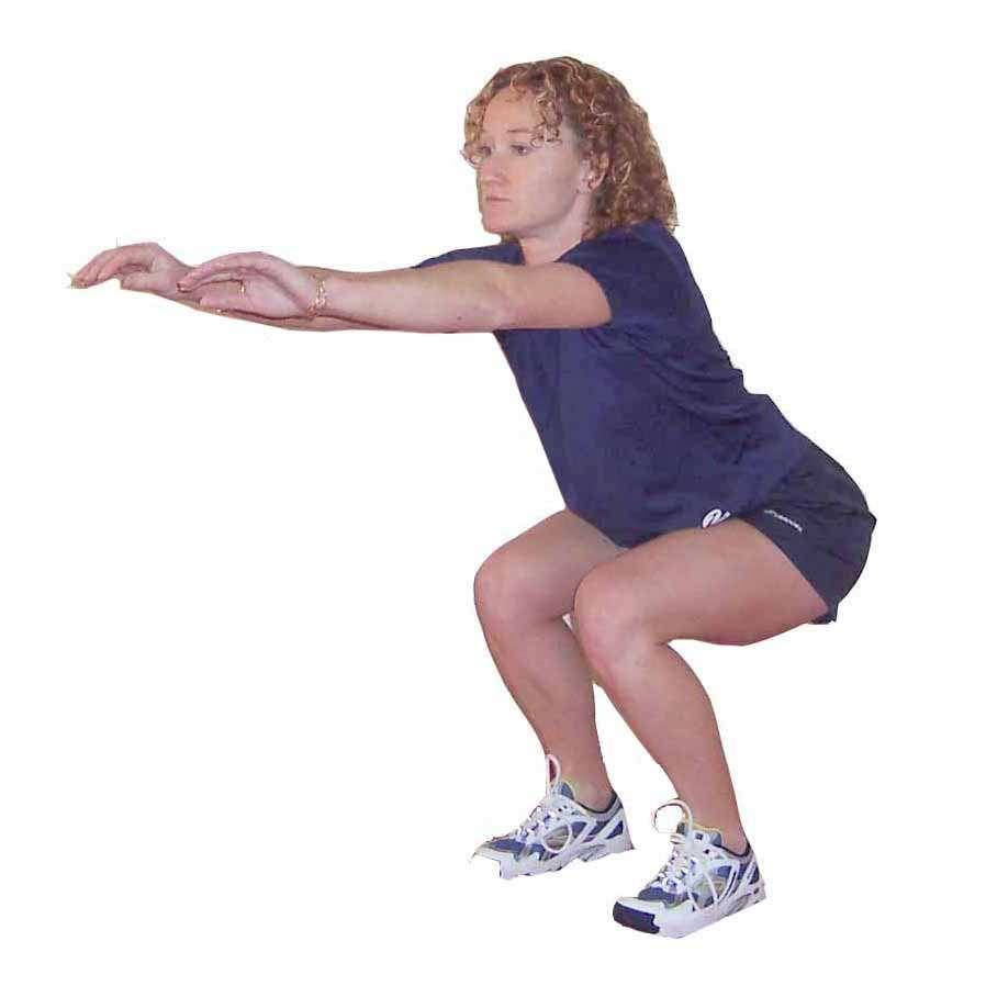 Ground contact on balls of feet Complete 3 sets of 25 repetitions.