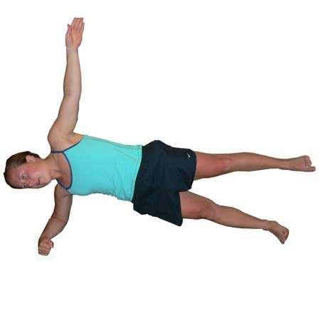 Lift the top leg until feet are shoulder width Hold position Maintain neutral spine position Hold for 20-40 seconds.
