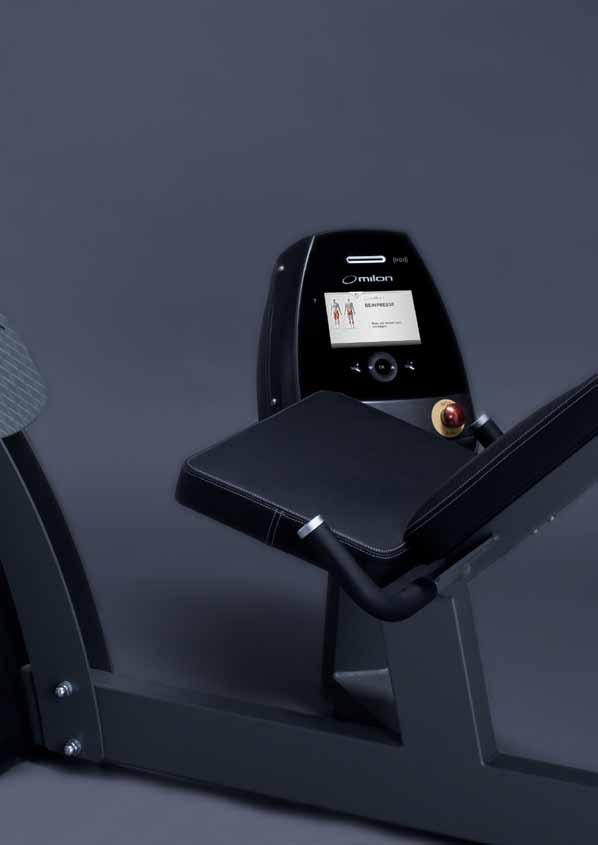Properties Electronically controlled training machine for the leg and buttocks musculature.