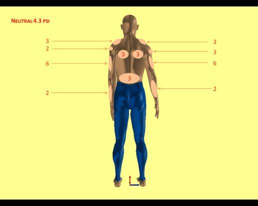2.5 Body-Suit Intensity Counts - Neutral Posture 2 1.