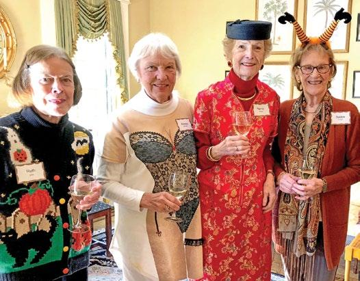 Members enjoyed a festive and delicious luncheon around the Frog Tree at Judy
