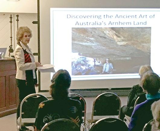 Archeology enthusiast Dede Barlett s presentation at the Historical Society, Discovering the Ancient