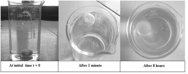 Figure 5: Buoyancy study at different time intervals Figure 6: In vitro dissolution studies of tablet layers of RAN (R1-R3) Figure 7: In vitro dissolution studies of tablet layers of RAN (R4-R6)