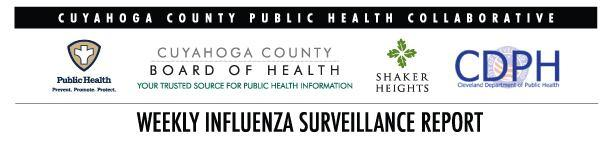 December 8-December 4, 203 ( 50) This report is intended to provide an overview of influenza related activity occurring in Cuyahoga County while providing some information on state activity that is