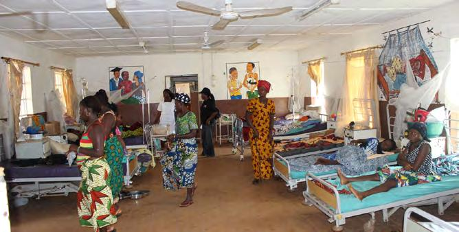 IMPROVING HEALTH FACILITIES INFRASTRUCTURE UNFPA has been working with the Government of Sierra Leone to rehabilitate health facilities to improve the quality and availability of emergency obstetric