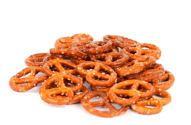Pretzels fit tip: Eat out a bowl versus a bag when eating your snacks.