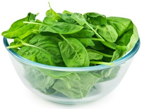 Spinach fit tip: Make half of your plate fruits and vegetables.