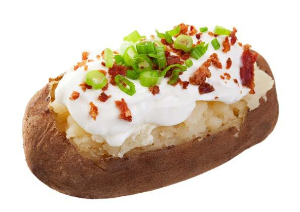 Potato with Toppings fit tip: Watch your toppings. They can change a from green to yellow.