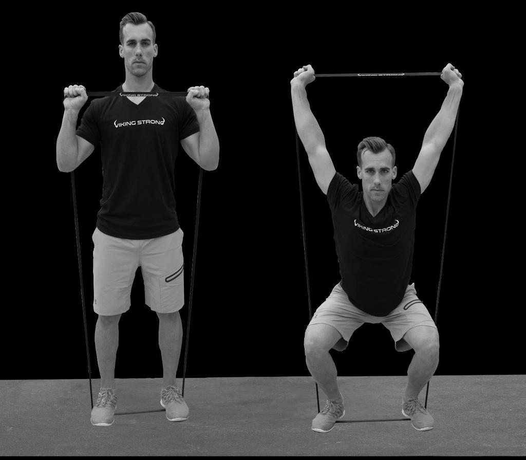 Shoulder Press with Squat.