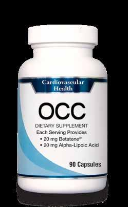 Cardiovascular Care at Your Finger Tips with OCC Betatene : a patented proprietary mix of antioxidant nutrients that positively influence the cardiovascular system and helps maintain healthy blood