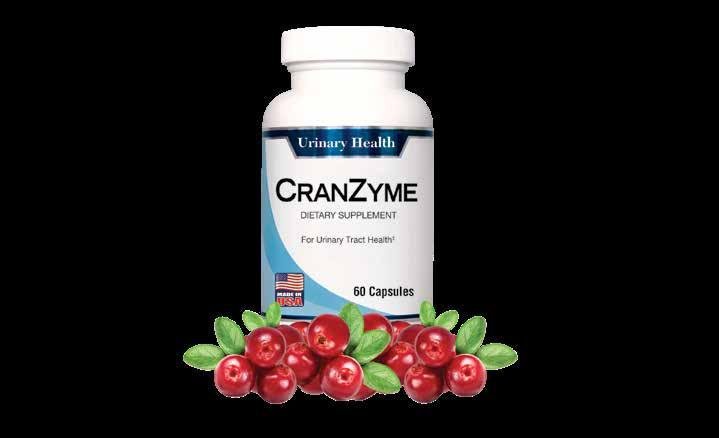 Keep Your Urinary Tract Clean and Clear CranZyme is the only urinary tract formula with: Cran-Max : this clinically tested cranberry extract is made from 100% cranberry fruit solids.