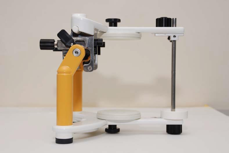 3-Allows increase of OVD by raising the height of articulator pin.