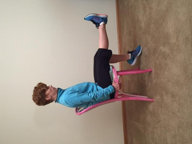 Leg Extensions: Strengthen thighs Breathe slowly; out on exertion and in on Perform all
