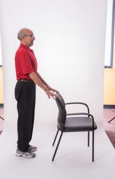 STANDING HEEL RAISES BODY WEIGHT Stand with your feet hip-distance apart.