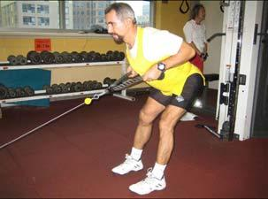Bent over Row with Rope (45 ) Muscle: Back of shoulder / rear deltoid Resistance: ed Cable Adjust the pulley to the lowest position.