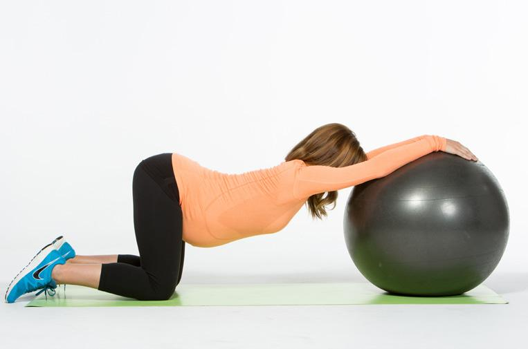 ... Arm Sculpting + Exercise Ball TRICEP PRESSES (2-10 lb. DB) 1. Squeeze the back of your arms while you reach your arms past your hips, pause to hold. 2.