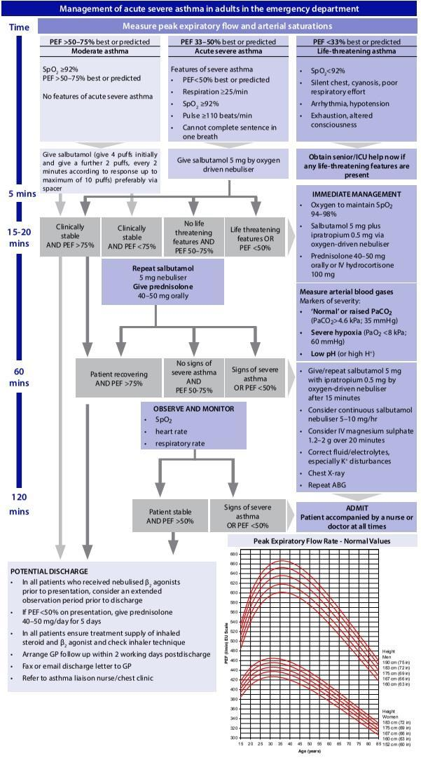 APPENDIX F Management of acute severe asthma in