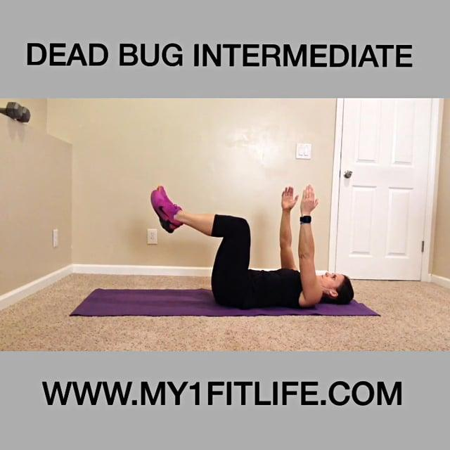 the center and then switch sides Begin by lying on your back, legs lifted away fro the floor at a 90 degree angle Extend arms directly upwards from the shoulder Pull belly button in towards your