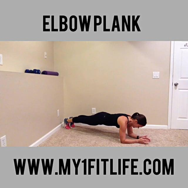 BW ELBOW PLANK Get into a push up like position on the floor but bend at the elbow and rest your forearms on the floor, clasping your palms together Support your weight on your toes and your forearms