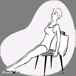 Keeping your left leg straight, bend your right leg and lean forward at the waist, you should feel a stretch
