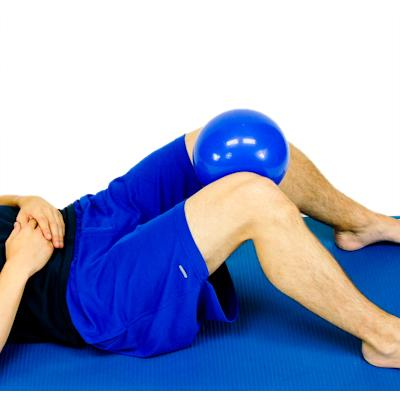 HIP ADDUCTION - SIDELYING While lying on your side, slowly raise up the bottom leg towards the ceiling. Keep your knee straight the entire time.