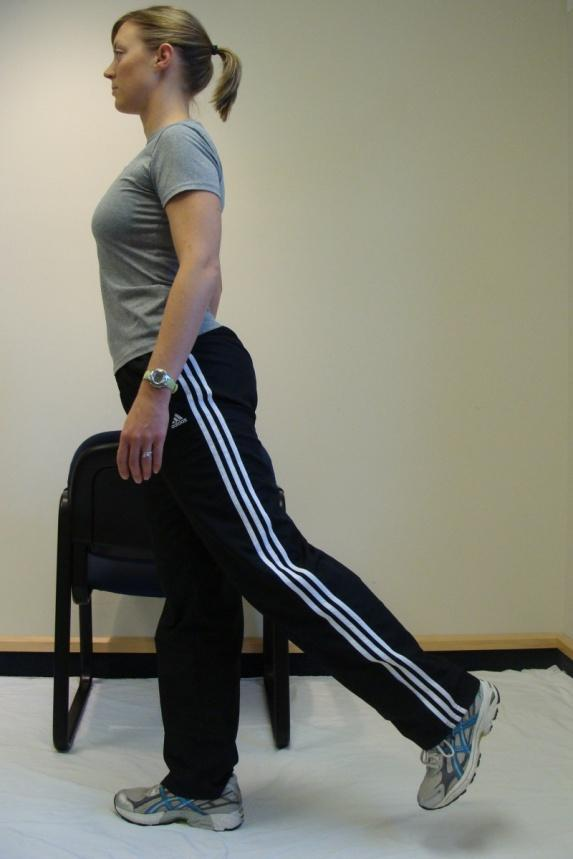 Lift one leg to parallel to floor.