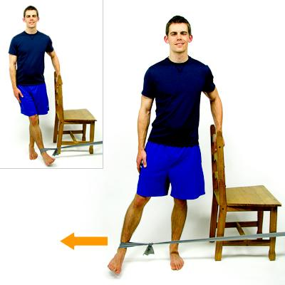 HIP ABDUCTION - SIDELYING While lying on your side, slowly raise up your top leg to the side.