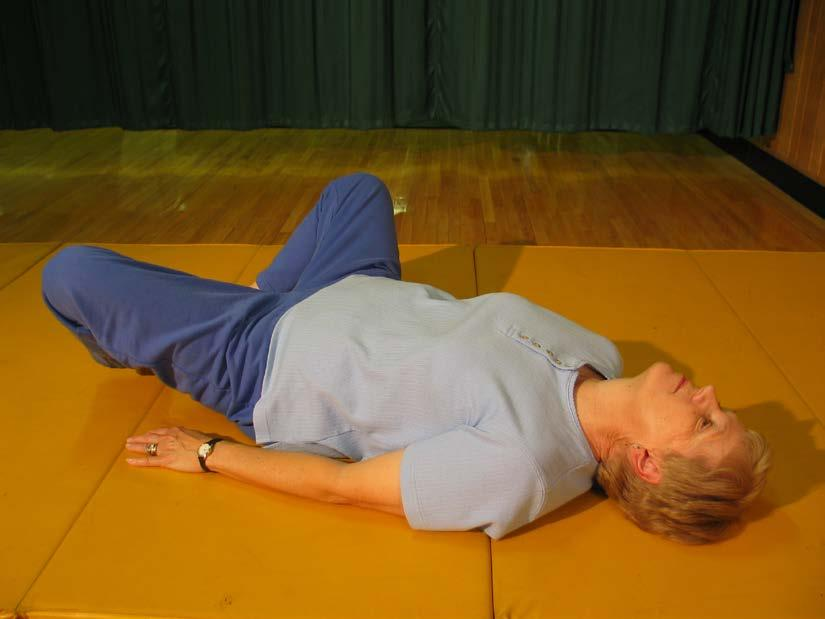 Find an easy stretch, hold for six seconds, then relax for five seconds.