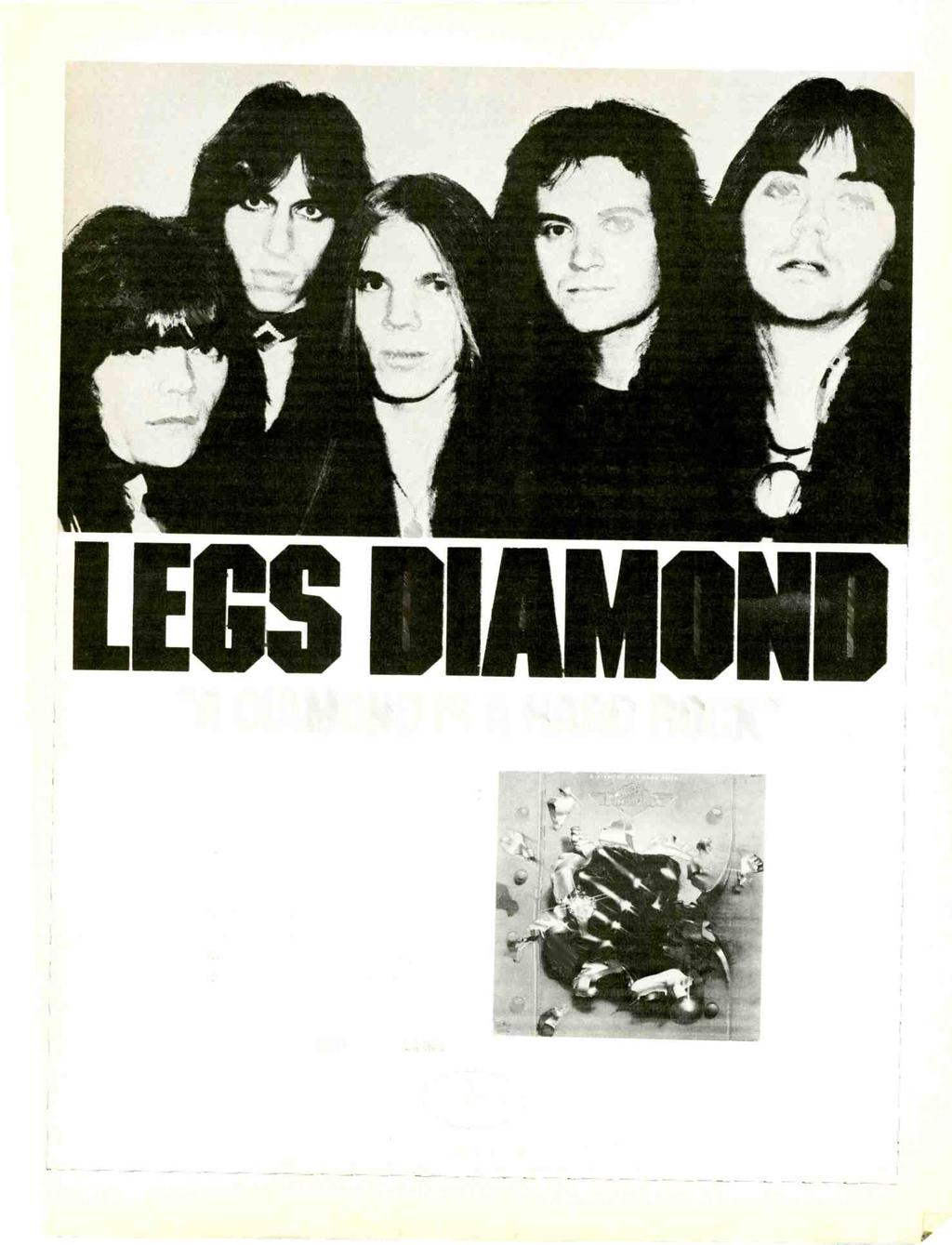 "LEGS M) ""A DIAMOND IS A HARD ROCK"" After just one week it's on the chart- Record World #64"
