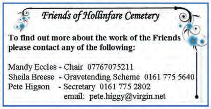 Hollinfare cemetery. Thanks to the hard work and commitment of volunteers the cemetery has maintained its Green Flag status for the second year running.
