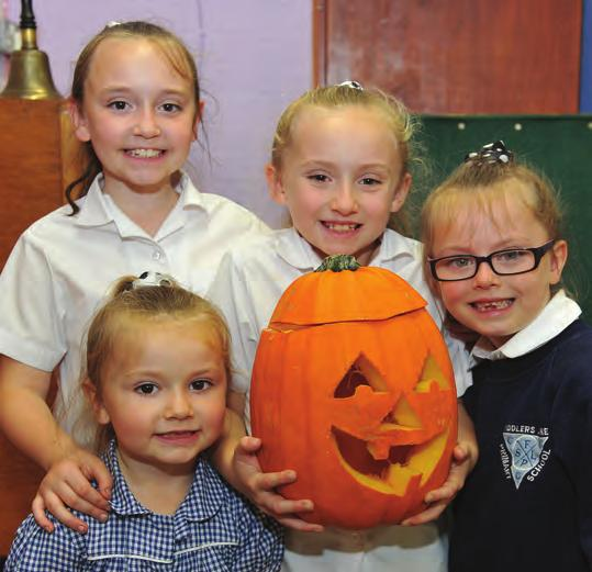 Under the supervision of staff and parents, children set about their pumpkins in all shapes and sizes to make a mountain of pumpkin lanterns some friendly, some scary but all spectacular.