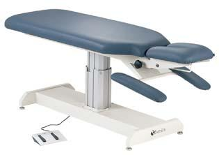 EARTHLITE CHIROPRACTIC TABLES Clinical Equipment Apex Lift Modern Design Seamless Upholstery. 3 Inch High-Density Foam. Paper Roll Holder and Cutter Attachmen.t Stationary Armrest.