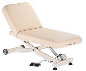 PowerAssist Salon Top, extra foot pedal, Flex Arms, Neck Roll, Head Pillow, and Deluxe Adjustable Headrest.