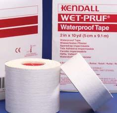 Roll; (6) Rolls/Box Wet Pruf Waterproof Tape Waterproof and oil resistant with aggressive zinc-oxide adhesion and high tensile strength.