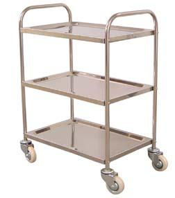 Tub Cart Two tub stainless steel transport cart. Top and bottom tubs are 4 deep.