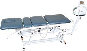 Therapeutic Modalities TRACTION TABLES (CON T) ADP-400 Traction Table Friction-Free Gliding Lumbar Section Turret Mounted Traction Pedestal Head and foot sections incline up to 90 degrees.