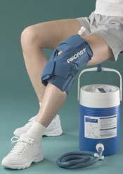 cuff that covers the specific body part with pressurized ice, water, a cooler that holds