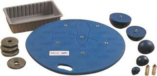 Large athletes will love the additional space on the balance board. 041685 FitBALL Deluxe Board - 19.